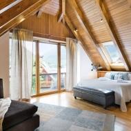 Casa Montcorbison, lujo en Vielha, Baqueira Beret, Pirineos, dormitorio