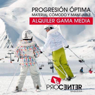 ALQUILER DE ESQUÍS GAMA MEDIA