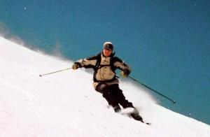 cómo frenar esquiando